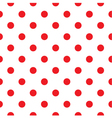 Red polka dot seamless pattern design vector image