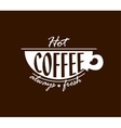 Hot coffee banner vector image vector image