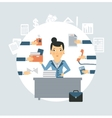 accountant all needed in the workplace vector image vector image