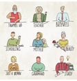 Colored People Business and Occupation Portraits vector image