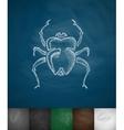 scarab icon vector image