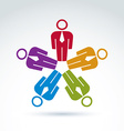 Teamwork and business team and friendship icon vector image