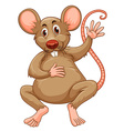 Rat with brown fur vector image vector image