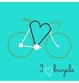 bicycle silhouette with graphic message vector image