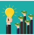 concept for investing into ideas vector image