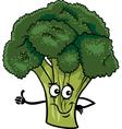 Funny broccoli vegetable cartoon vector image
