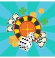 gambling casino elements jackpot playing vector image