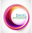 Glamorous swirl background vector image