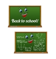 Green chalkboards for Back to School design vector image