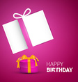 Happy Birthday Card Pink Birthday Background with vector image