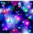 Seamless pattern background of falling diamonds vector image