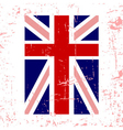 British flag vertical vector image