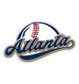 atlanta baseball vector image