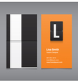 business card letter L vector image vector image