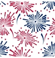 4th of july fireworks seamless pattern vector image