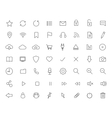Digital linear icons set vector image