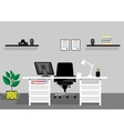 Creative office desktop workspace mock up vector image