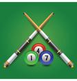 billiard icon vector image