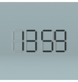 Black digital Clock vector image