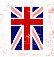 British flag vertical vector image