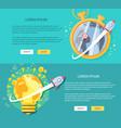 flat design management concepts web vector image