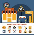 fuel pump icon set vector image