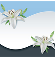 Greeting or invitation card with 3d flower lily vector image