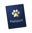 pet passport formal document certificate for dog vector image