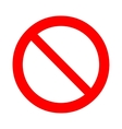 Prohibition forbidden sign vector image