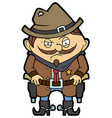 wild west sheriff vector image