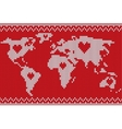 world map lovely knitting style vector image