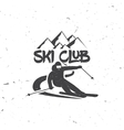 Ski club concept with skier vector image