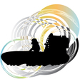 Airboat vector image vector image