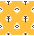 Thanksgiving yellow seamless pattern with leaves vector image vector image
