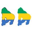 Gorilla Gabon vector image