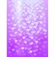 Purple festive lights in heart shape background vector image