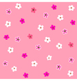 seamless pink flower plaid pattern vector image vector image
