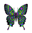 Rainbow gradient butterfly vector image