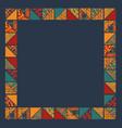 boho abstract frame vector image