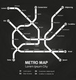 city subway map metro map concept vector image