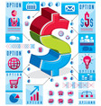 Creative infographics concept layered dollar sign vector image