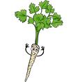 Cute parsley root vegetable cartoon vector image