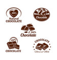 icons set for chocolate desserts vector image