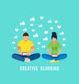 internet blogging concept vector image