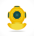 Retro diving helmet vector image