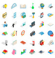 science icons set isometric style vector image