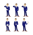 Set of cartoon businessmans vector image
