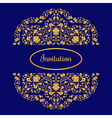 with vintage gold round ornament and place for vector image