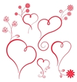 Abstract heart with flowers Element for design vector image vector image