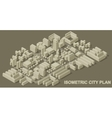 City plan isometric vector image